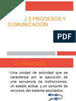 UNIDAD 2 PROCESOS Y COMUNICACION