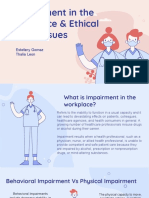 impairment in the workplace   ethical issues