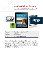 Heartburn No More Review - How Effective Is It?
