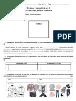 Evaluare sumativă nr. 1 _ cl. 5 _ 2020-2021