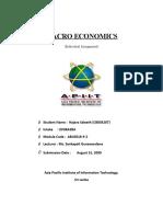 Macro Economics individual assignment
