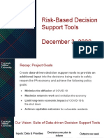 CMU Risk Based Decision Support Tool