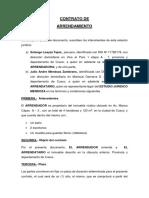 CONTRATO DE ARRENDAMIENTO DE OFICINA