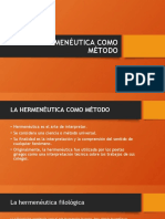 LA HERMENÉUTICA COMO MÉTODO