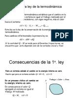 PRIMERA LEY DE TERMODINAMICA SISTEMAS CERRADOS Y ABIERTOS