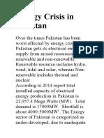 Energy Crisis in Pakistan.docx