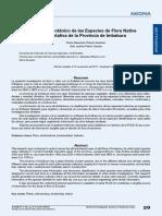 estudio etnobotanico de las especies de la flora nativa