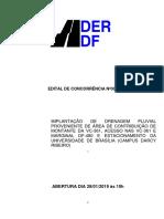 Edital de concorrência DER - Estacionamento da UnB Gama
