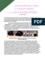 FUSIL a impulsion micro-onde