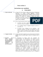 Instructions aux candidats