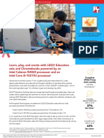 Learn, play, and create with LEGO Education sets and Chromebooks powered by an Intel Celeron N4020 processor and an Intel Core i5-10210U processor