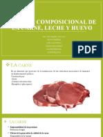 CALIDAD COMPOSICIONAL DE LA CARNE, LECHE Y HUEVO