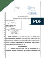 State Bar of Nevada complaint against Bret Whipple