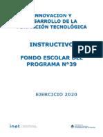 INSTRUCTIVO FONDO ESCOLAR 2020 - SITRARED