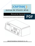 MP-60_Bomba de infusion_ Manual de usuario