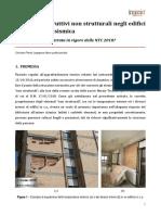 Elementi costruttivi non strutturali negli edifici in C.A. in zona sismica