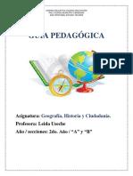 2do. año. Guía pedagógica de Geografía, Historia y Ciudadanía