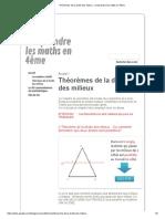 Théorèmes de La Droite Des Milieux - Comprendre Les Maths en 4ème