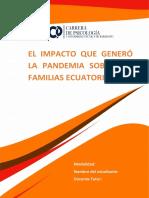 EL IMPACTO QUE GENERÓ LA PANDEMIA SOBRE LAS FAMILIAS ECUATORIANAS
