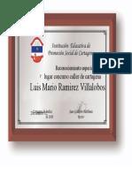 Reconociemineto Especial Luis Mario