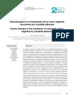 Manejo Vulvovaginits por candida con Ozonoterapia