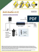 Diagrama de instalación Rápida CortaCorriente AntiAsalto v1