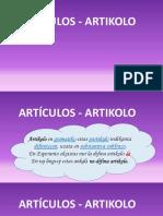 Esperanto_ARTÍCULOS - ARTIKOLO