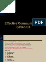 Seven Cs of effective communication