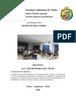 AUTOINSTRUCTIVO DISEÑO DE REACTORES