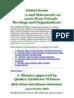 Quakers Minutes