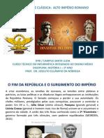ANTIGUIDADE CLÁSSICA_ALTO IMPÉRIO ROMANO
