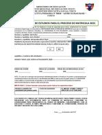 FICHA DE CONTINUIDAD E INGRESO MATRICULA 2021