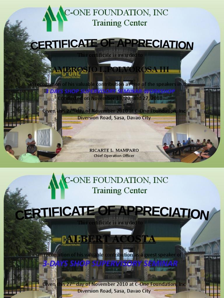 Certificate of appreciation 3 yelopaper Gallery