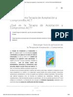Guía Completa Terapia de Aceptación y Compromisos ACT - ACTUO PSICÓLOGO BARCELONA