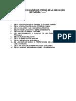 ejemplo de REGLAS DE CONVIVENCIA INTERNA de una asociación