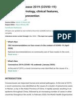 Uptodate_coronavirus epi, prevention