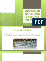 Servicio de Banquetes y Eventos Especiales