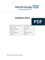 Antibiotics Policy