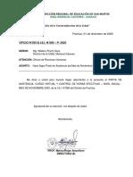 OFICIO PARTE MENSUAL DE ASISTENCIA MES DE NOVIEMBRE 2020