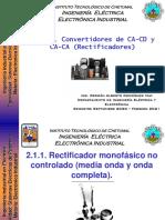 2.1.1 Rectificadores monofásicos no controlados (media onda y onda completa)