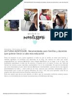 Aprendiendo con Montessori_ LECTURAS MONTESSORI