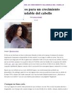 8 CONSEJOS PARA UN CRECIMIENTO SALUDABLE DEL CABELLO