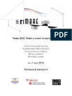 Conference Proceedings on Timbre _2018