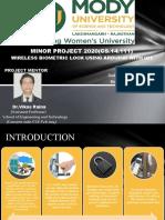 MINOR PPT(wireless biometric door opening sysytem)