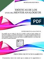 Características de los instrumentos analógicos