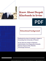 Know About Deepak Kharbanda in Irvine