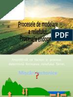 Procese de Modelare a Reliefului Procese Endogene