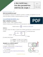 Parametre de coupe Prof