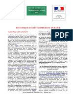 Historique du Developpement durable