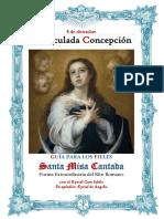 8 de diciembre. Inmaculada Concepción de la Virgen María. Guía de los fieles para la santa misa cantada. Kyrial Cum Iubilo. En apéndice De Angelis